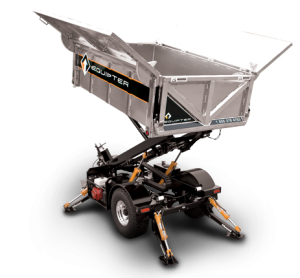 RB4000 Roofing Trailer in Mid-Height Position